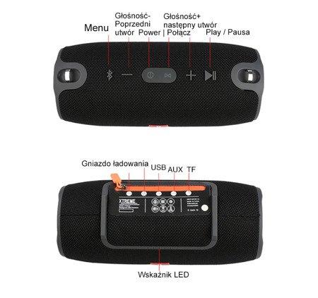 Głośnik Bluetooth XERTMT NIEBIESKI