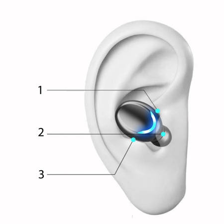 Słuchawki wodoodporne Bluetooth F9 V5.0 z powerbankiem