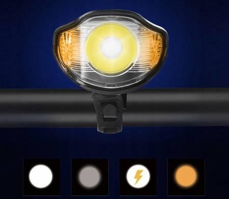 ZESTAW ROWEROWY LAMPKA LED LICZNIK KM ŚWIATŁO TYŁ